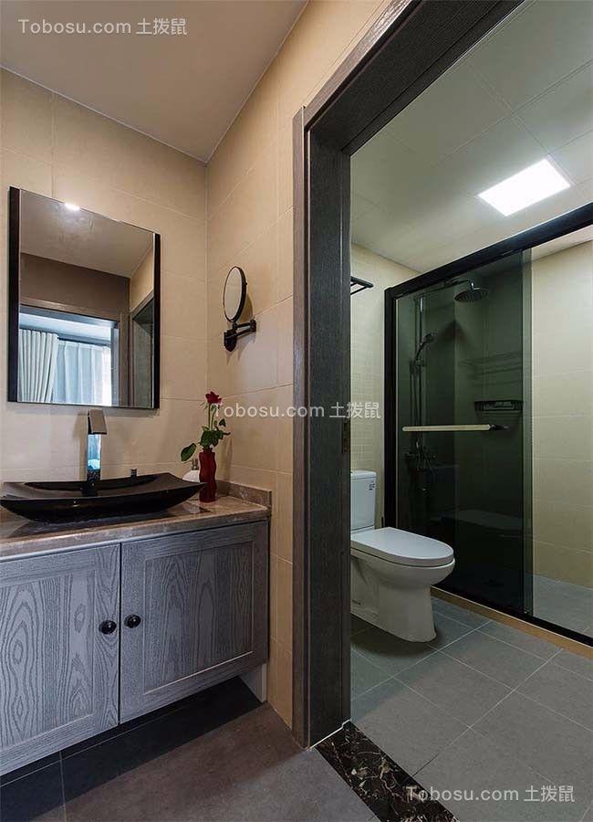 卫生间 洗漱台_王府花园三室两厅125平混搭装修效果图