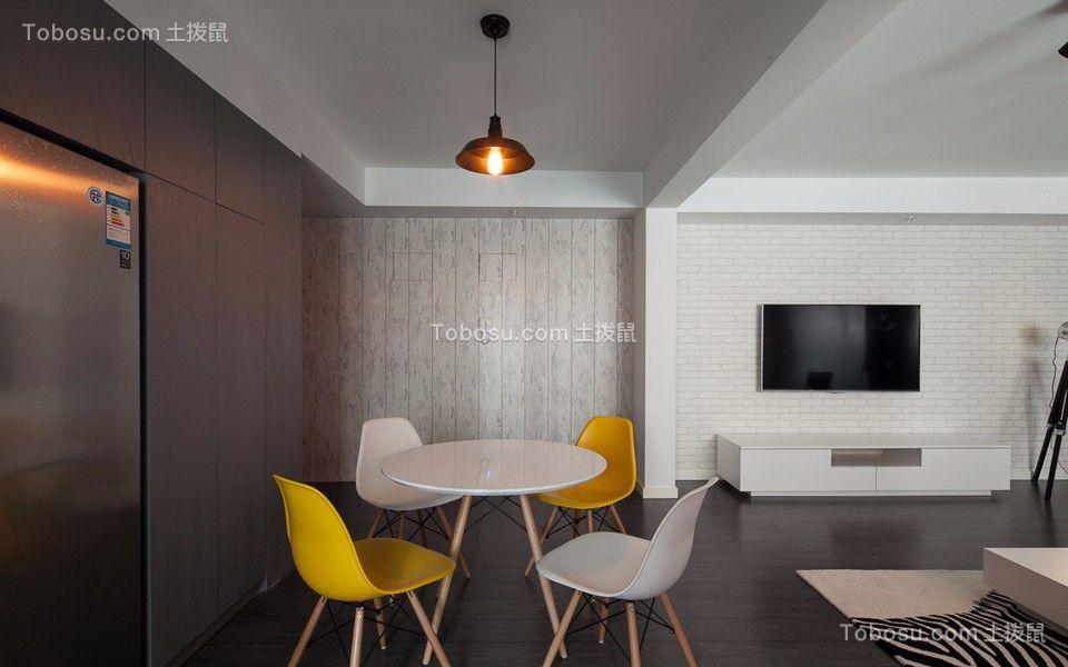餐厅 餐桌_公园里103平北欧风格三居室装修效果图