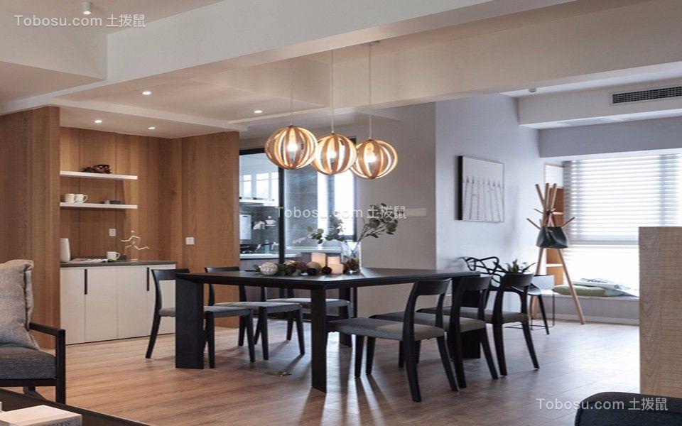餐厅 隔断_120㎡北欧现代三居室装修效果图