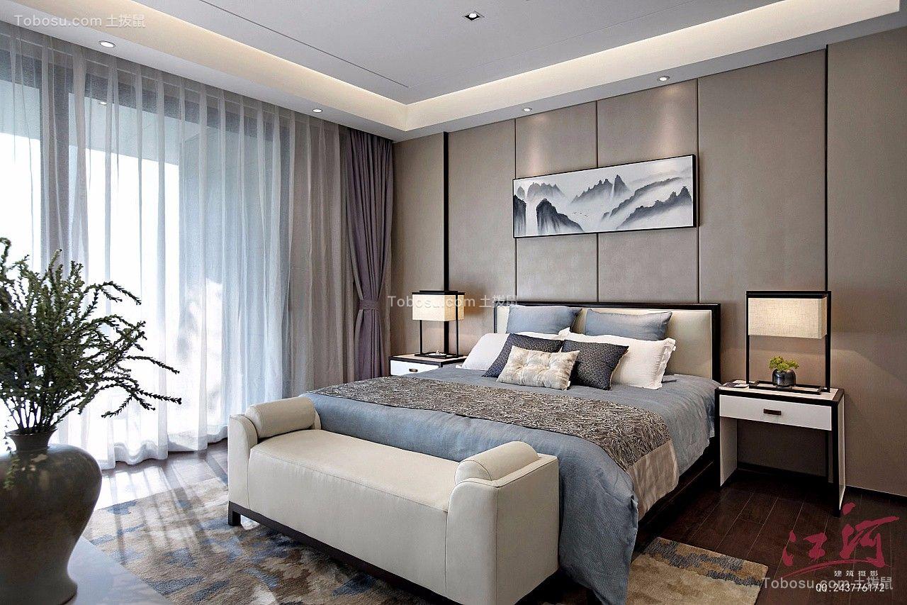 天津水钢琴二居室126平米新中式风格装修效果图