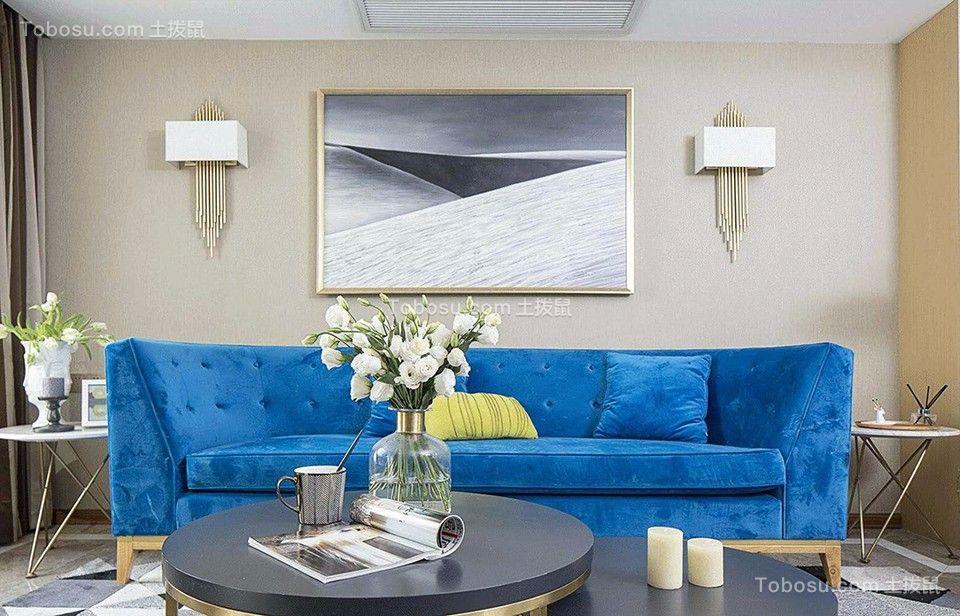 东港嘉园90平米简约风格二居室装修效果图