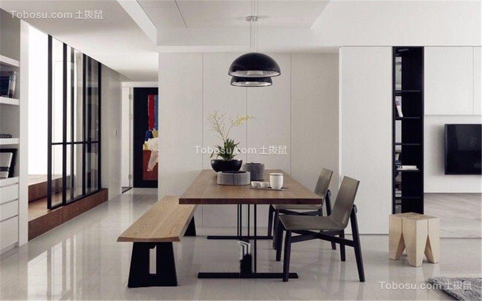 餐厅白色走廊简约风格装饰效果图