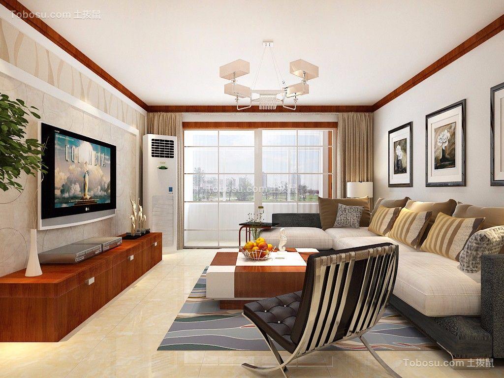 阳光100国际新城138平米中式风格三居室装修效果图