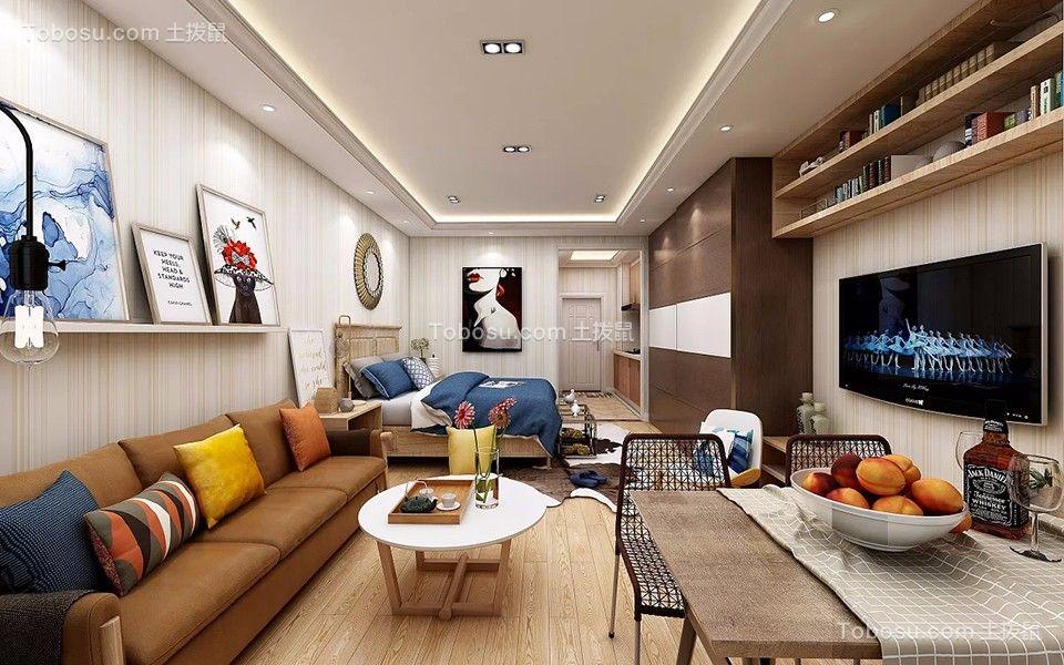 皇冠国际公寓60平米公寓北欧风格装修效果图