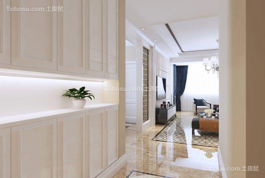 玄关米色地砖简欧风格装饰图片