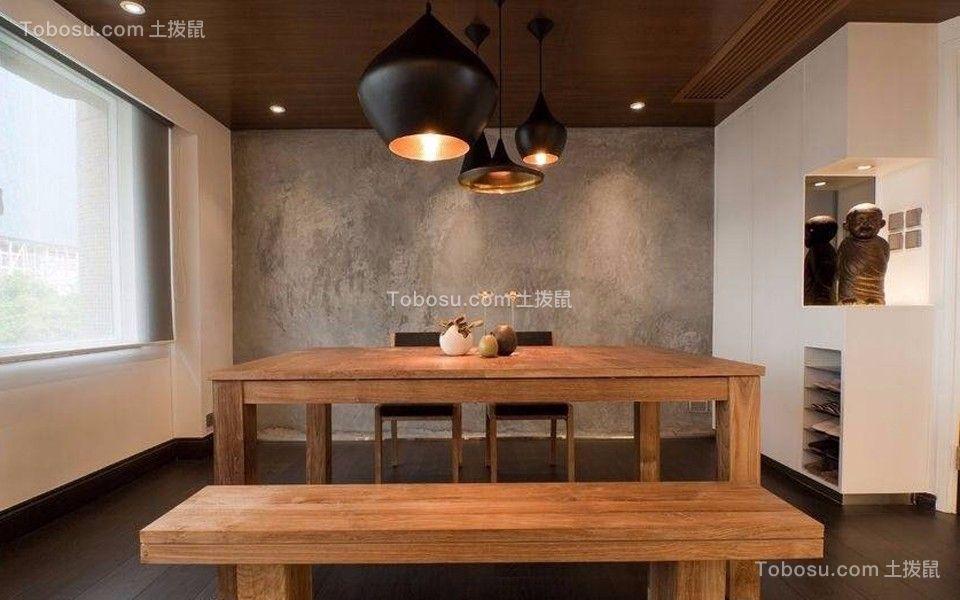 餐厅咖啡色餐桌简约风格装修图片