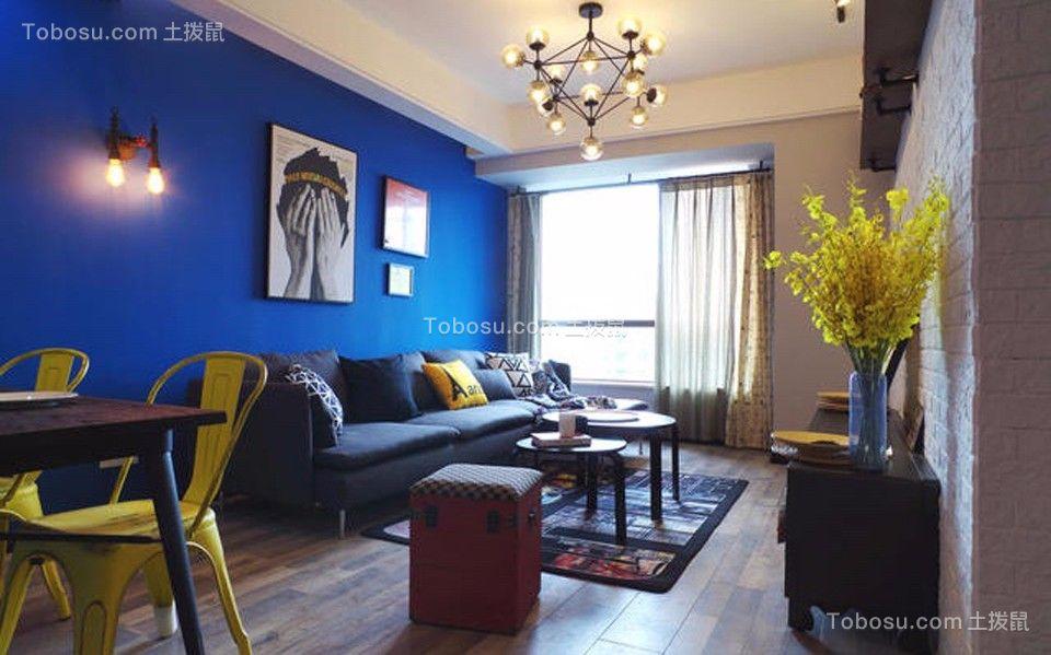 客厅白色灯具北欧风格装修图片