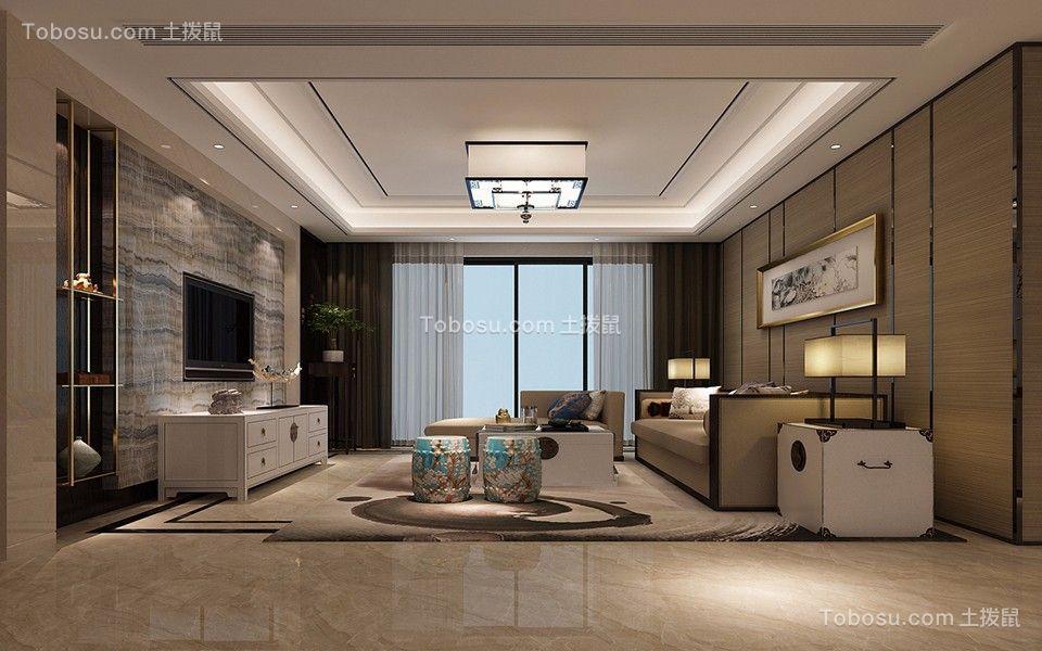 九颂山河180平四室二厅新中式装修效果图