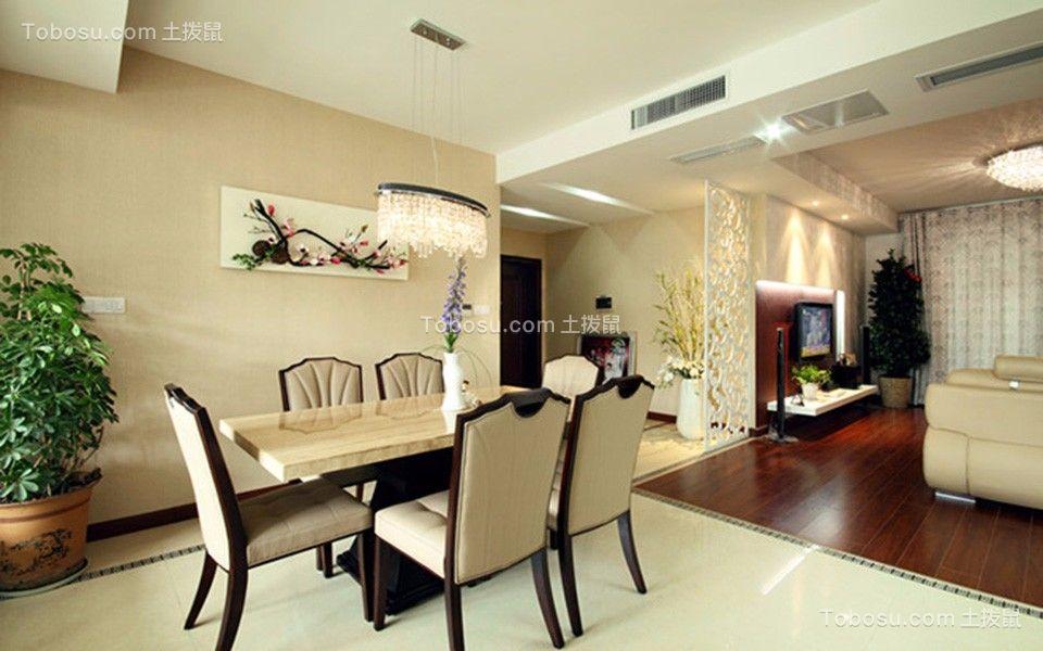 万悦城125平四室两厅现代风格装修效果图