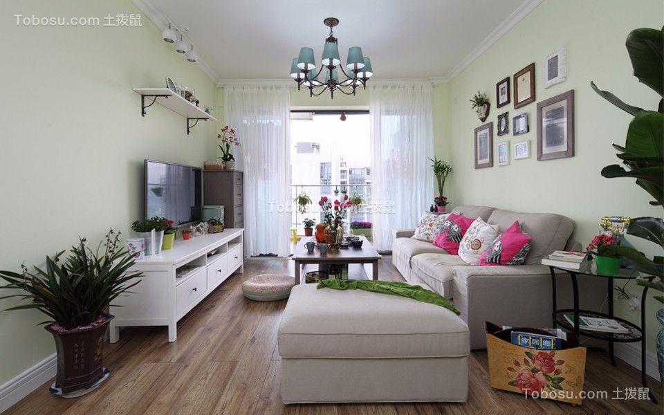 复地新都国际105平米混搭风格三居室装修效果图