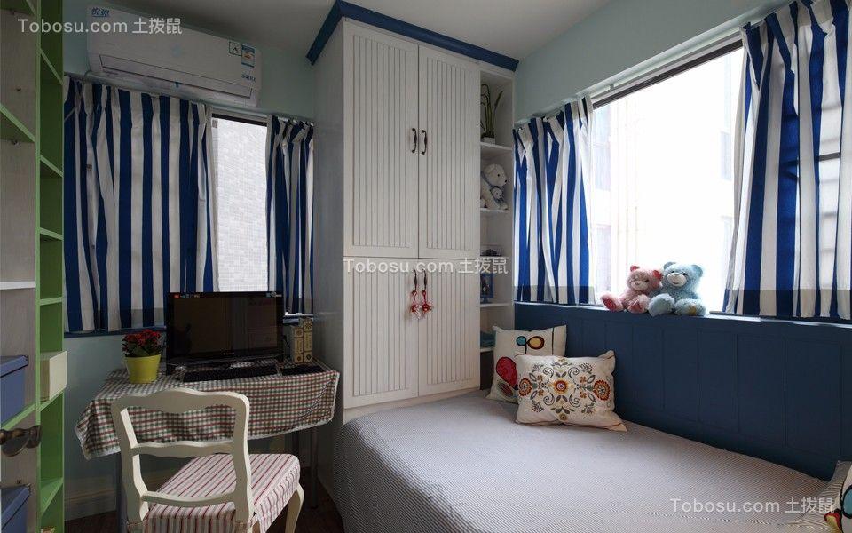 儿童房白色榻榻米混搭风格装饰设计图片