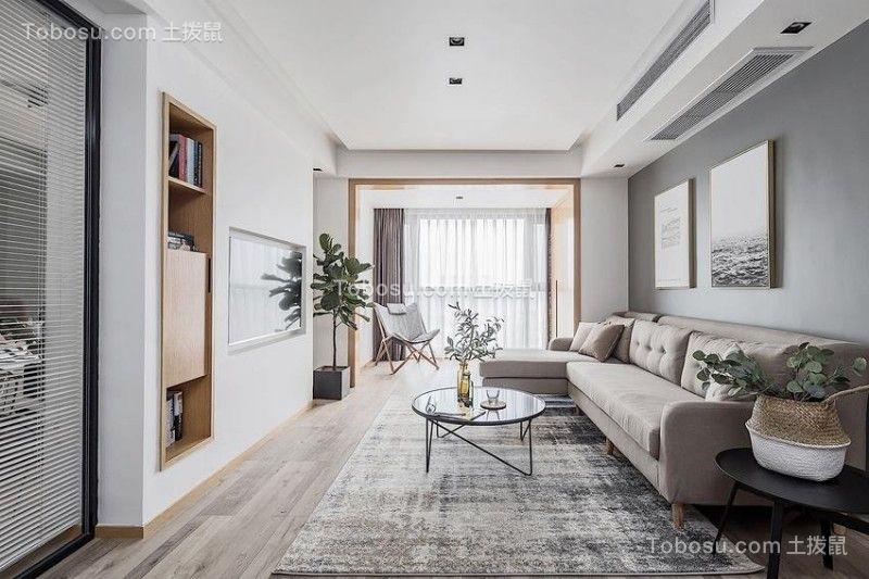 闽江印象120平米现代简约风格套房装修效果图