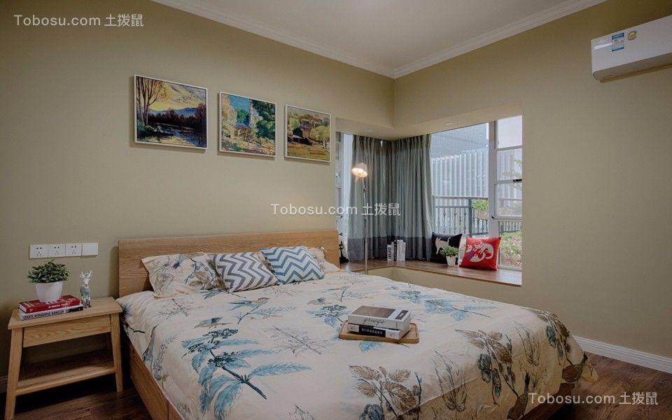 卧室绿色窗帘简约风格装饰图片