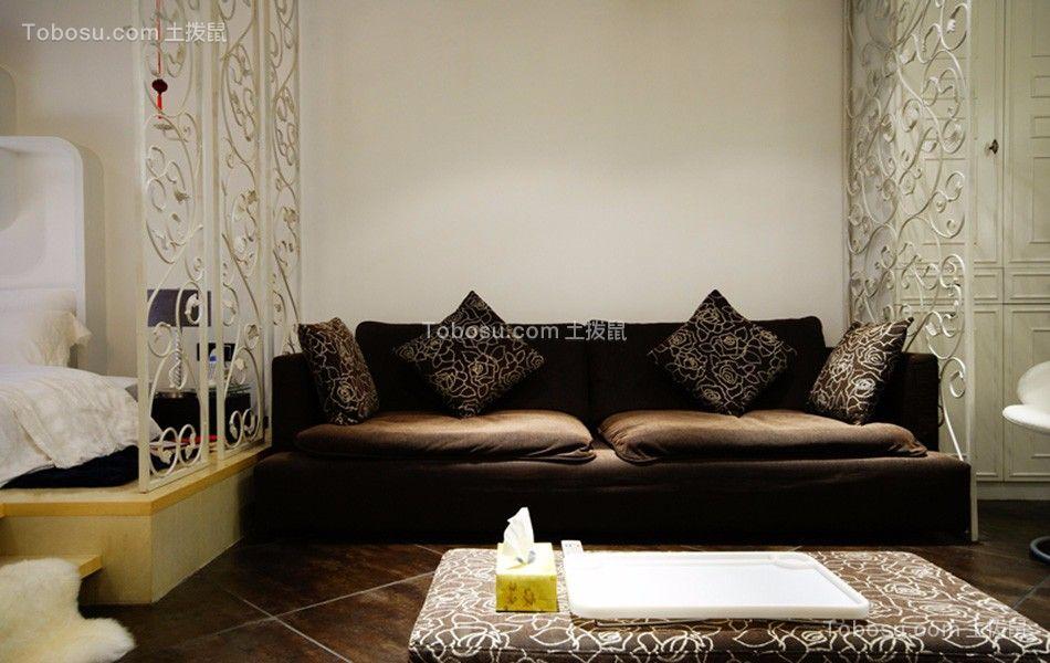 香江豪庭90平三室两厅现代装修效果图