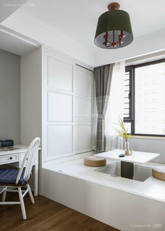 书房白色榻榻米北欧风格装饰效果图