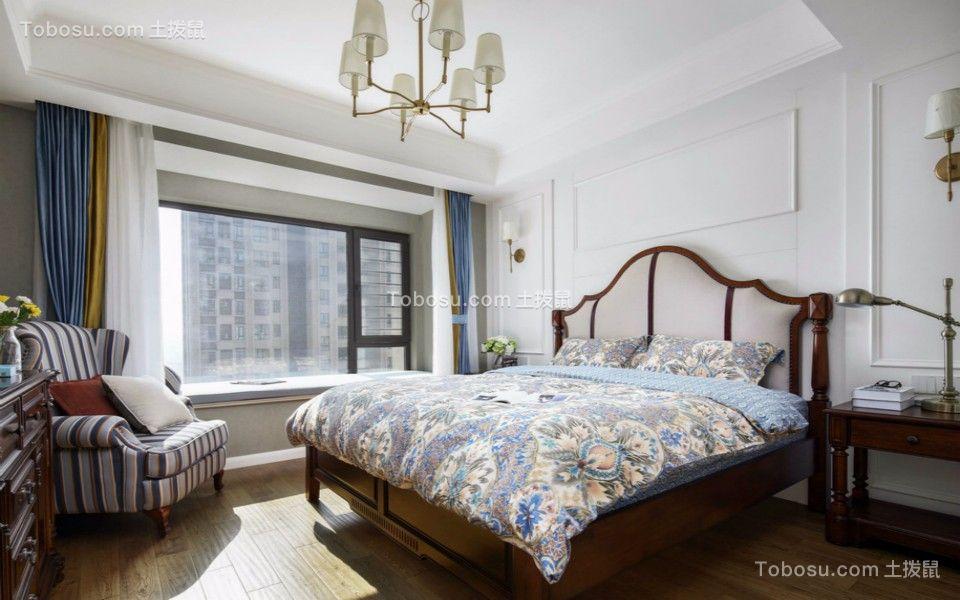 卧室白色床北欧风格装修图片