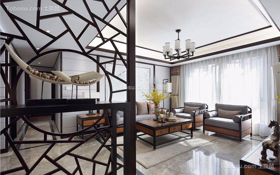 2019新中式客厅装修设计 2019新中式吊顶设计图片