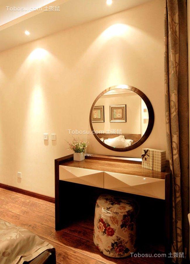 卧室咖啡色梳妆台新中式风格装修设计图片