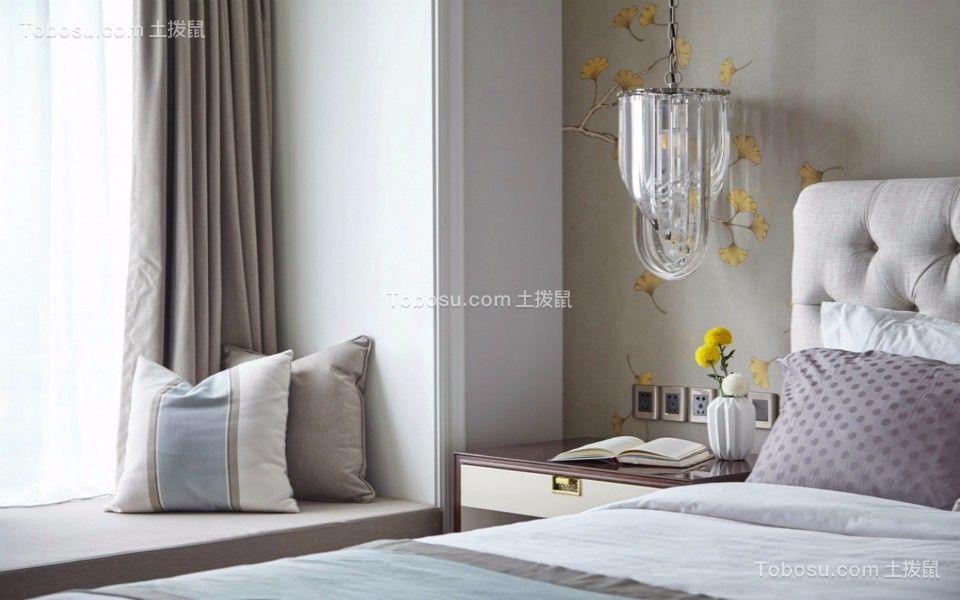 卧室白色飘窗简欧风格装饰效果图