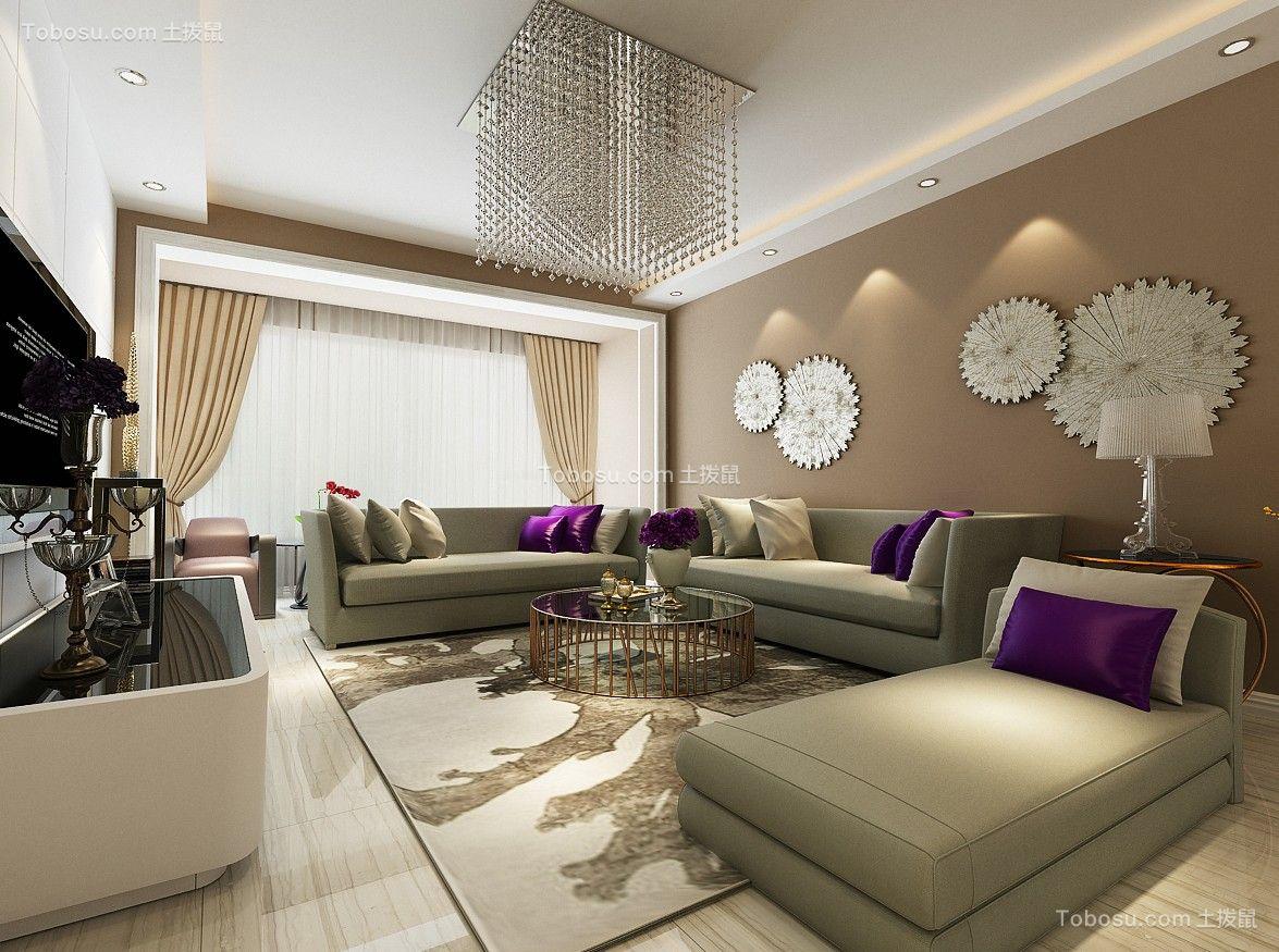 112平米北苑家园现代简约风格二居室装修效果图