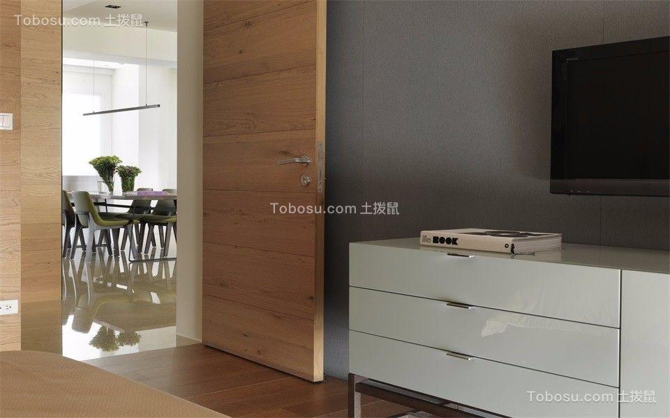 卧室白色电视柜现代风格装饰效果图