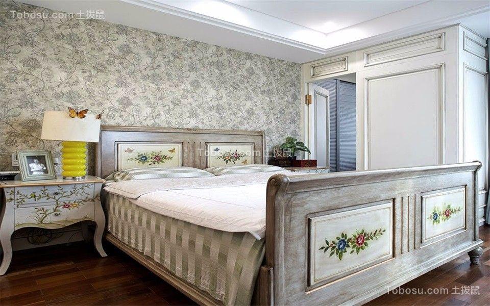 卧室白色床头柜美式风格装修效果图