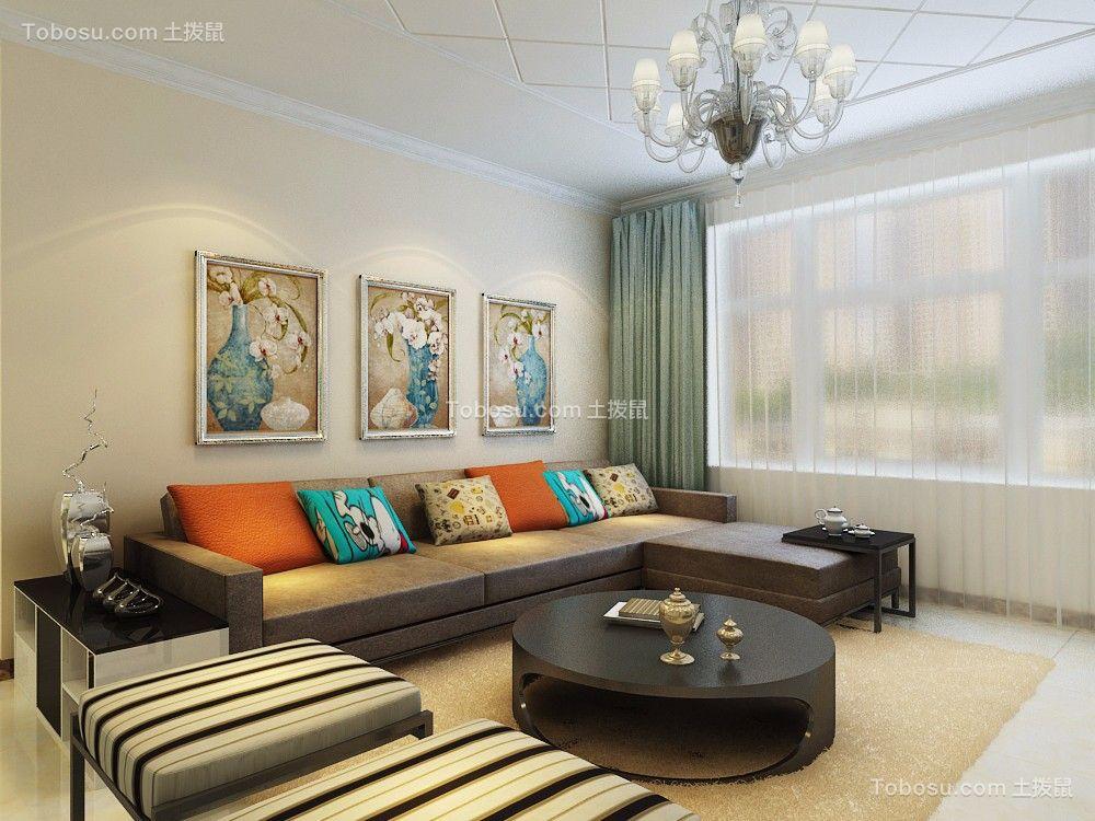 映月紫云城107平三居室现代简约风格装修效果图