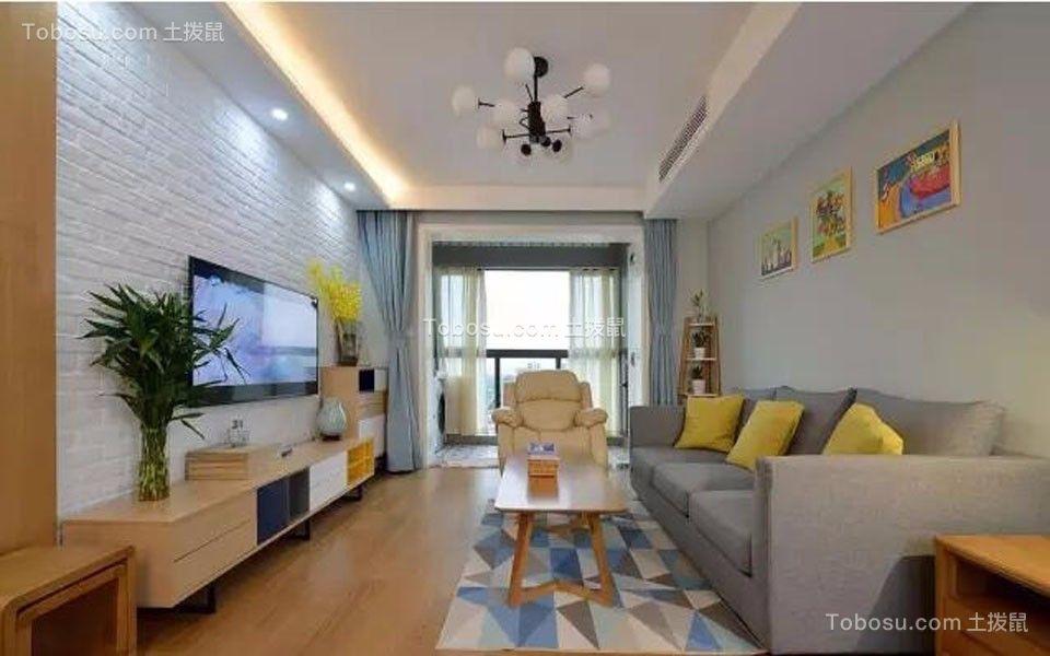 阳光城翡丽湾90平米现代风格三居装修效果图