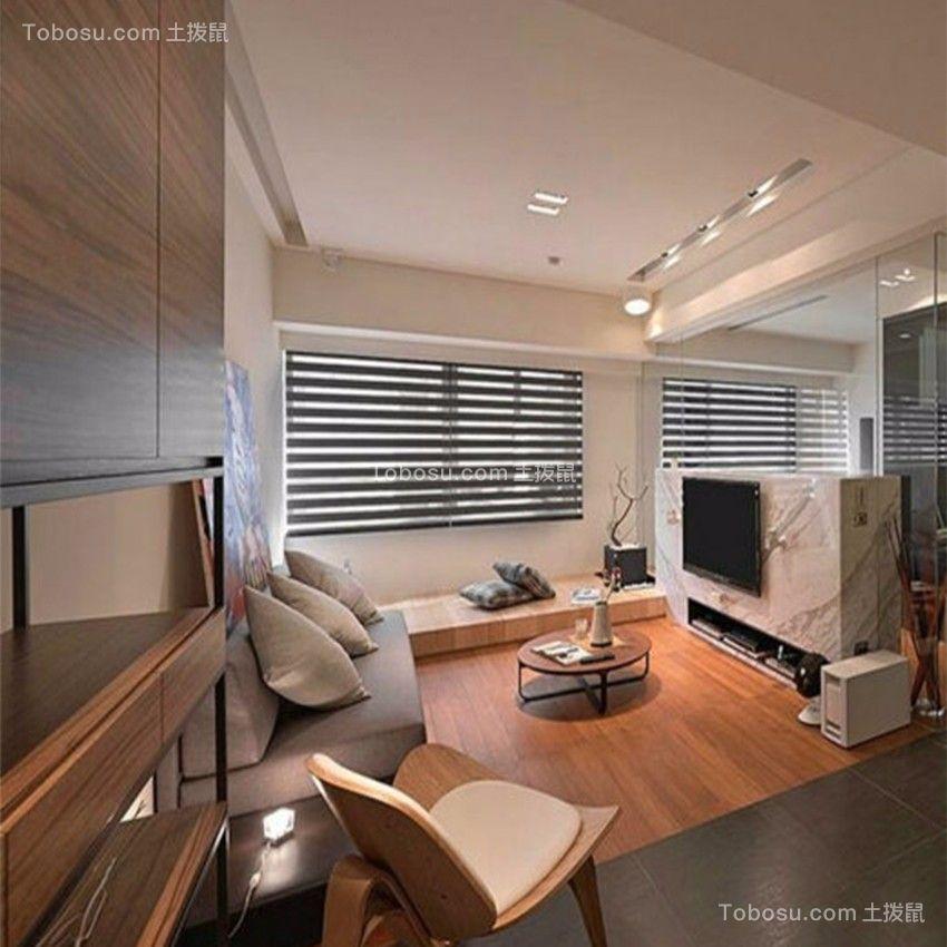 新力帝泊湾110平三室二厅日式风格装修效果图