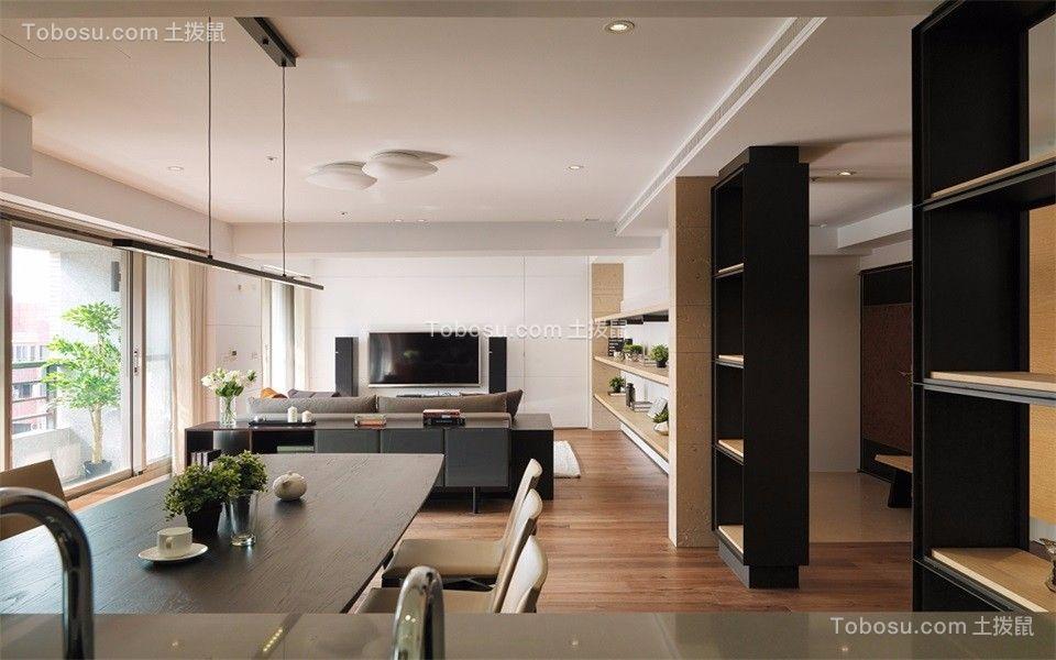 108平宜家现代风格两室两厅装修效果图