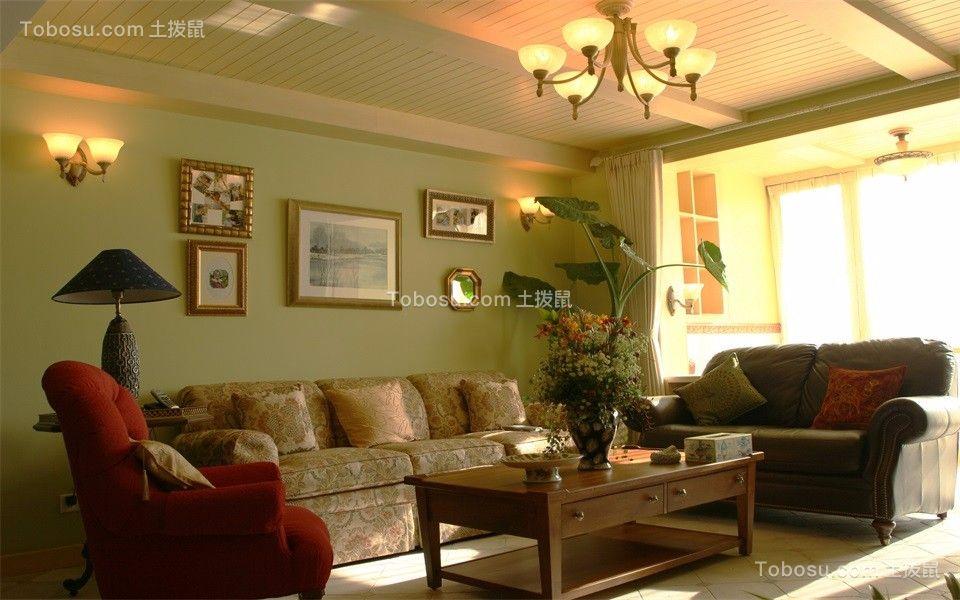 88平美式风格三居室装修效果图