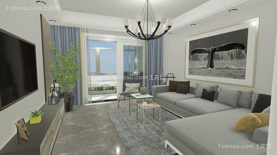 北欧风格106平米两室两厅新房装修效果图