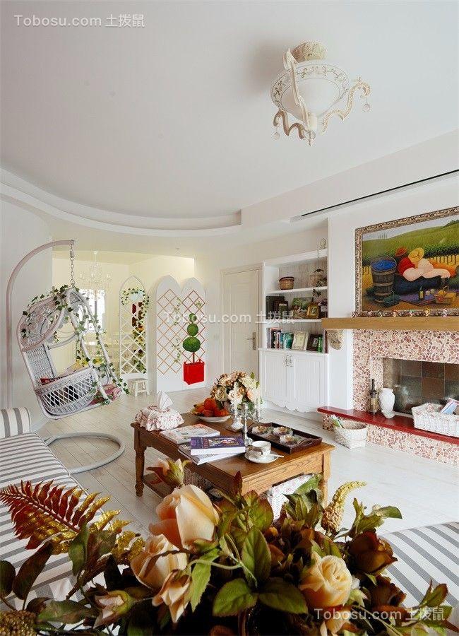 86平地中海风格二居室装修效果图