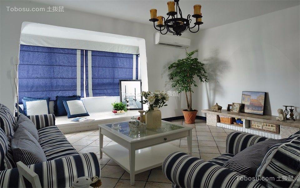 94平地中海风格三居室装修效果图