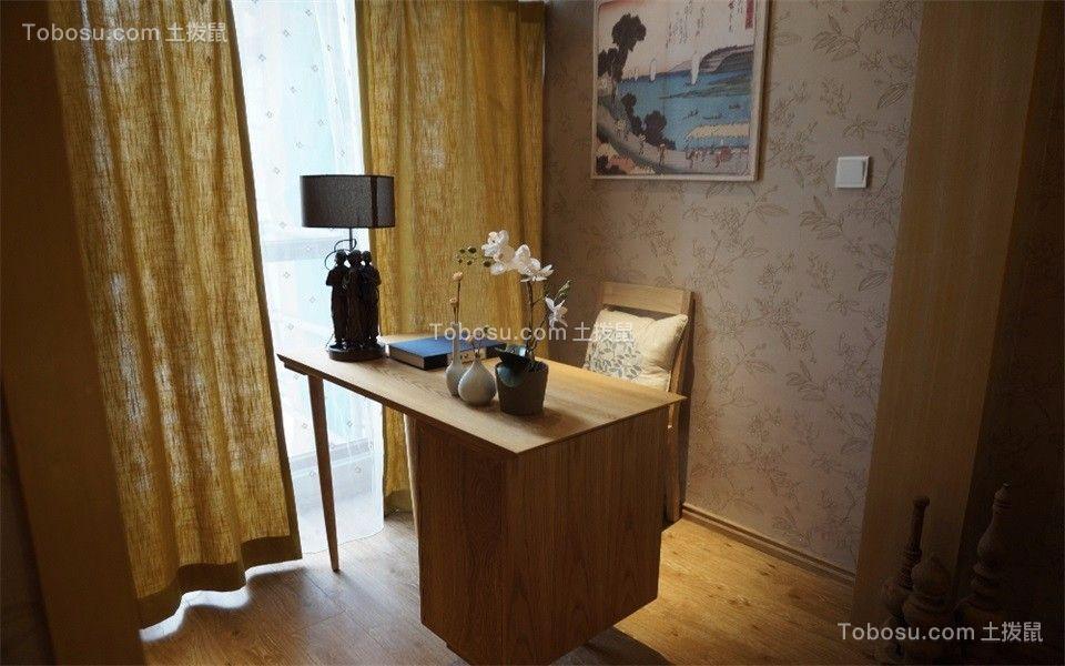 卧室米色书桌日式风格装修设计图片