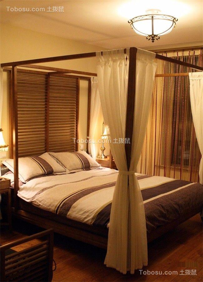 104平新中式风格三居室装修效果图