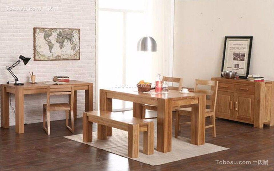 起居室黄色书桌中式风格装潢设计图片