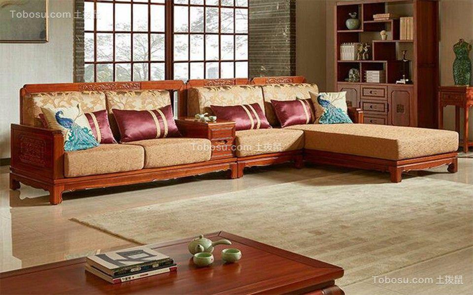 奥克斯盛世经典三室二厅120平中式装修效果图