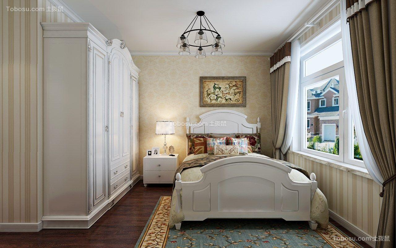 保利城76平米半包三室一厅简欧装修设计效果图