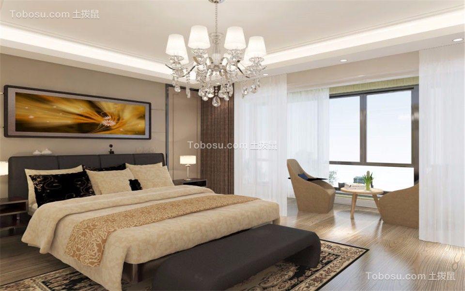 卧室白色梳妆台新中式风格装修效果图