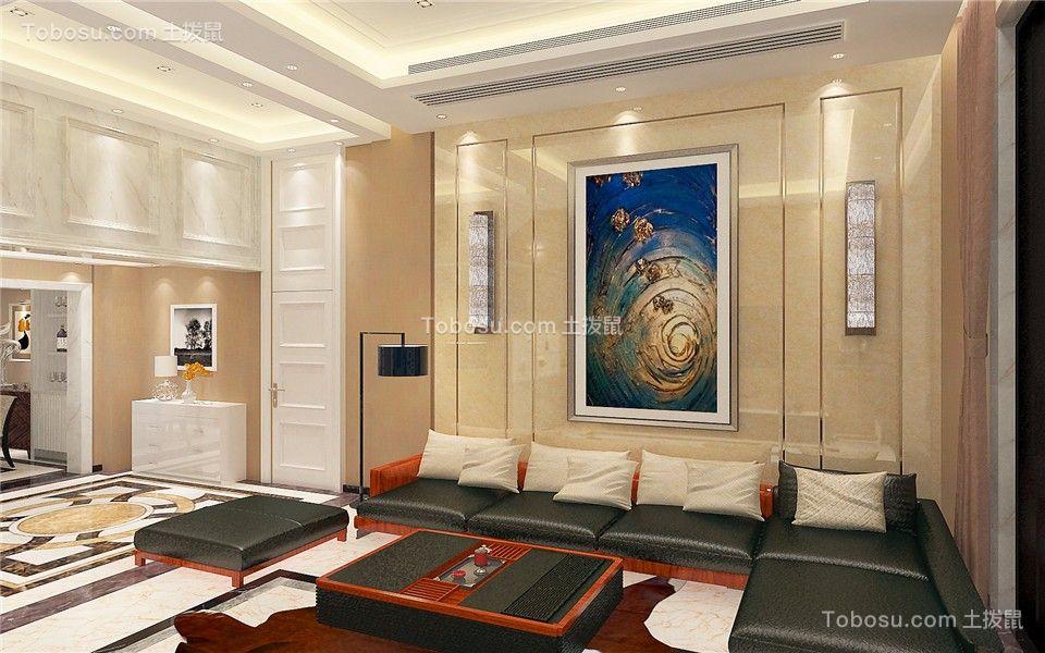 欧式风格80平米小两室新房装修效果图图片