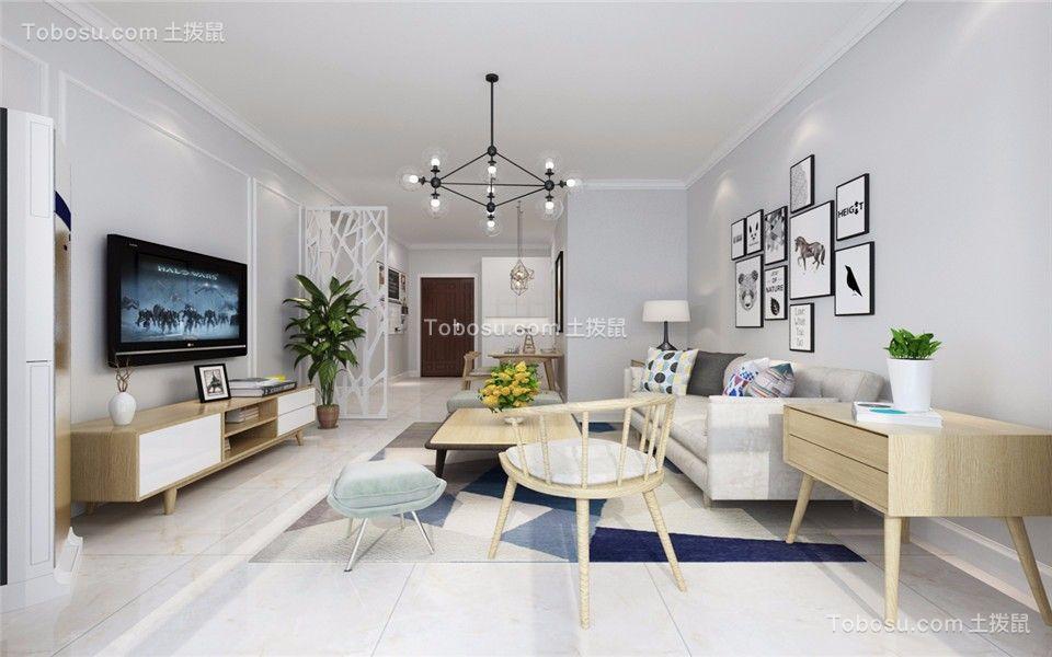 80~100m²/现代简约/二居室装修设计
