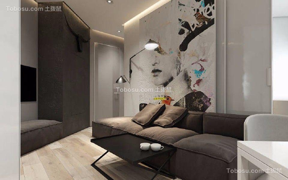 客厅 沙发_现代风格40平米小户型新房装修效果图
