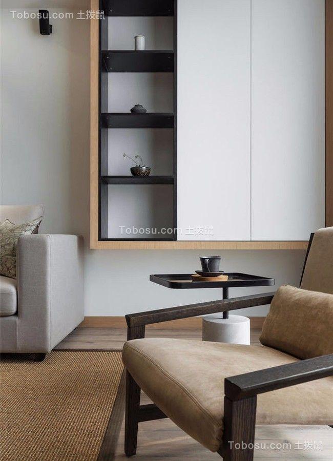 客厅 细节_莘朱路80平简约风格二居室装修效果图