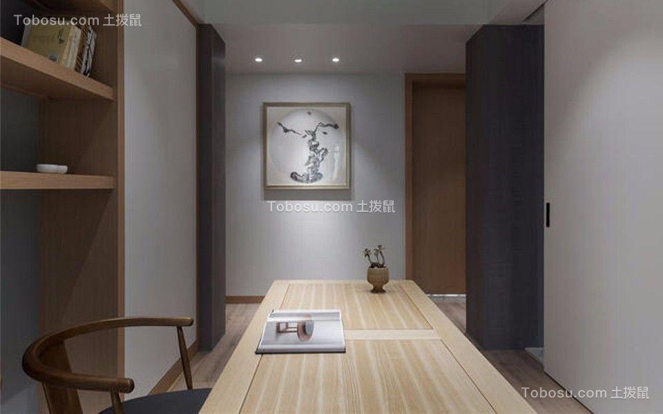 书房白色书桌简约风格装饰设计图片