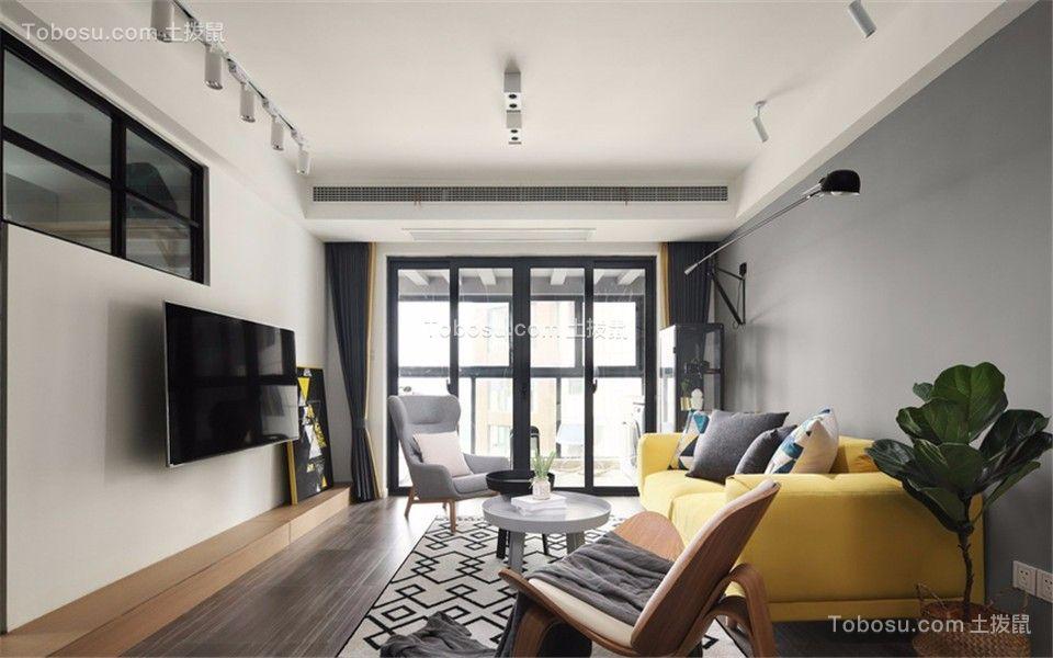 居易时代110平现代风格三室两厅一卫装修效果图