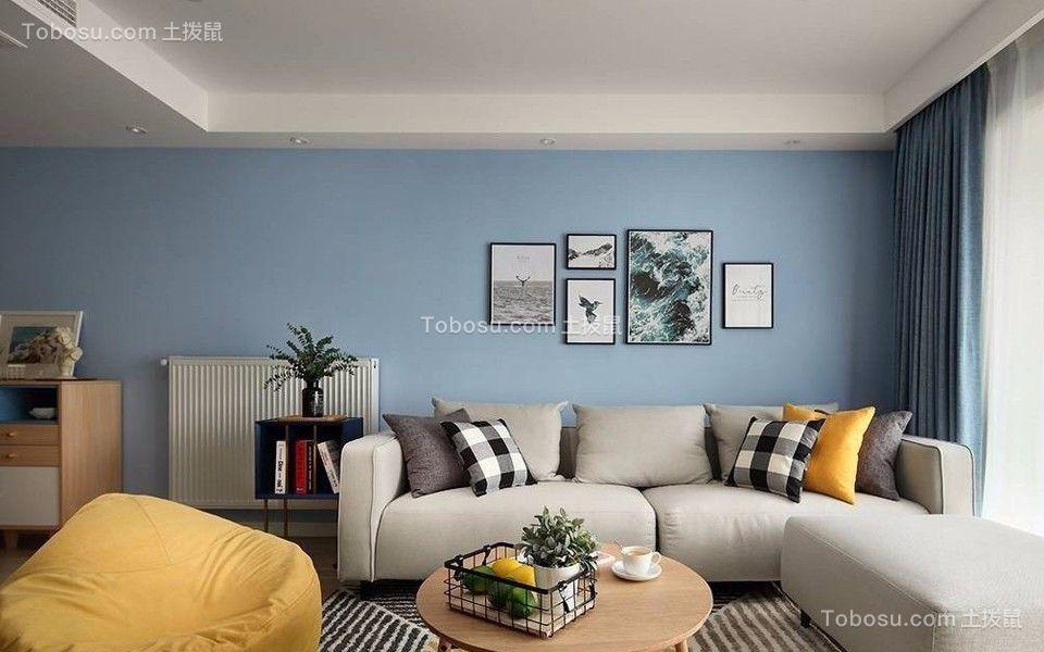 兰溪路68平米二居室北欧风格装修效果图