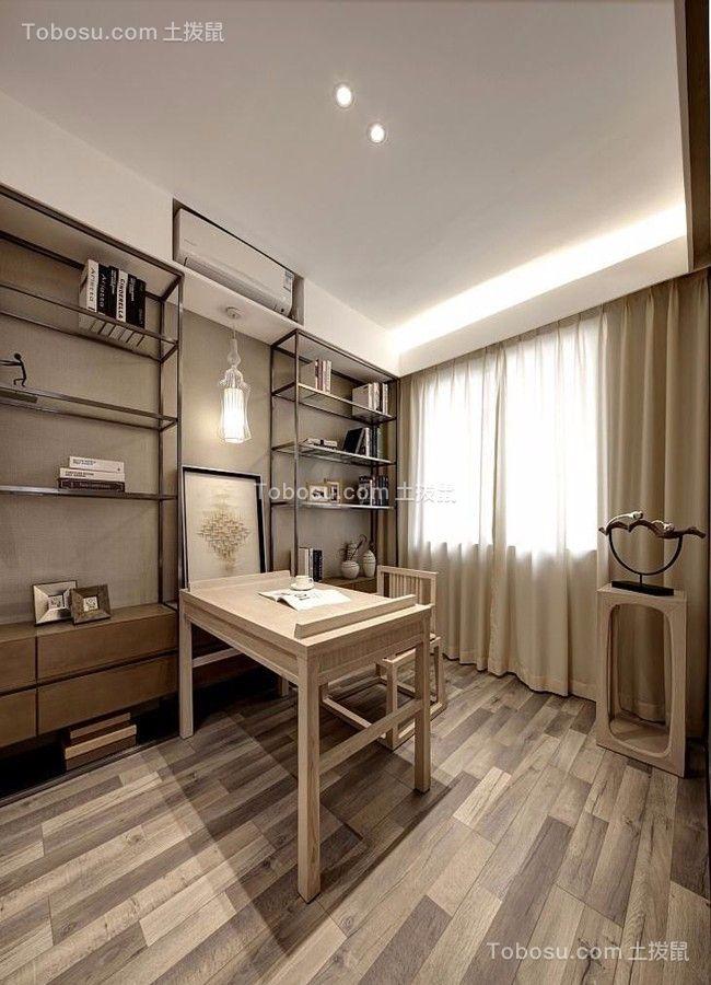 书房白色书桌中式风格装修图片