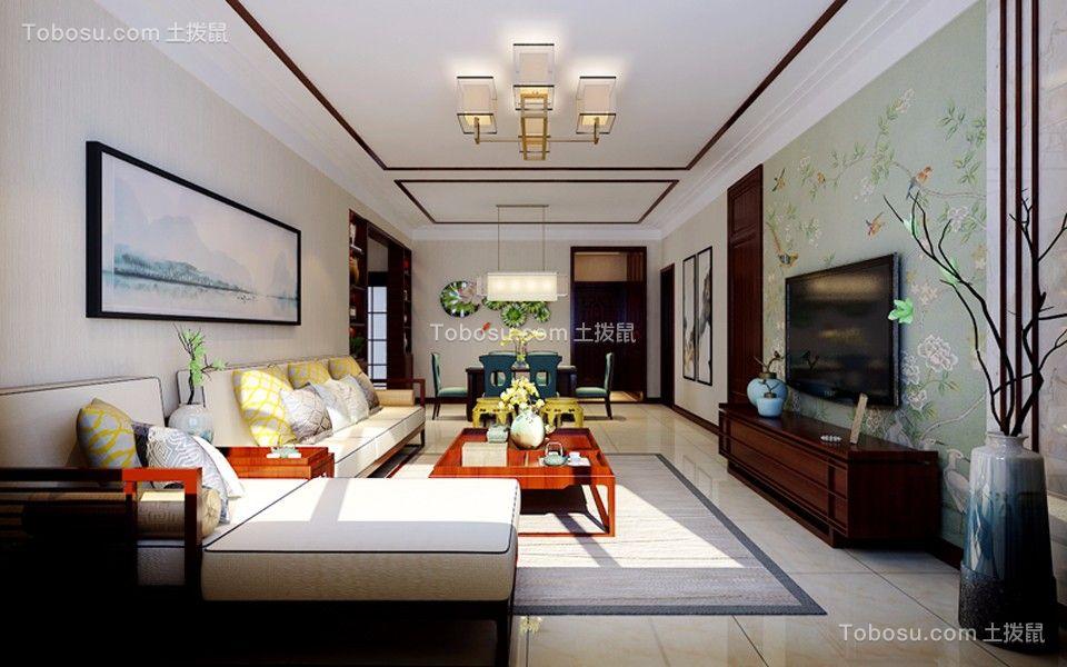 龙瑞苑148平米新中式风格三居室装修效果图