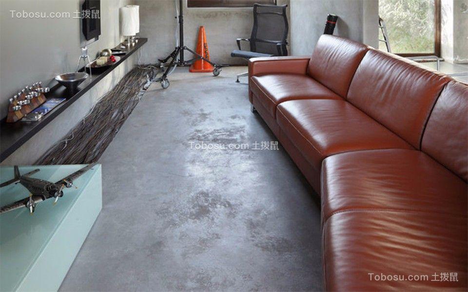 客厅红色沙发简单风格装修图片